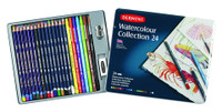 DERWENT WATERCOLOUR PENCIL COLLECTION 24 COLOUR TIN SET