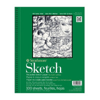 "Strathmore - Recycled Sketch Spiral Bound - 400 Series - 11""x14"" - 100 Sheets - 60LB"