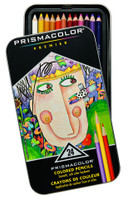 PRISMACOLOR PREMIER COLORED PENCIL 24 COLOR TIN SET