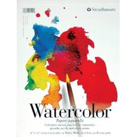 "Strathmore - Watercolor Cold Press Tape Top - 200 Series - 9""x12"" - 15 Sheets - 90LB"