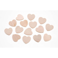 Wood Heart - 1 x 1/8 inch - 40 pieces - Big Value