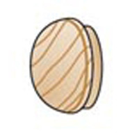Wood Furniture Buttons - 3/8 inch - 100 pieces - Big Value