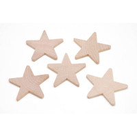Wood Star - 2-1/4 x 3/16 inches - 10 pieces - Big Value