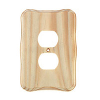 Electric Outlet Cover - Wood - Routed Edge - Unfinished - 5.75 inches
