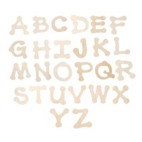 Wood Letters - Full Alphabet and Extras - Dot to Dot Font - 1.75 inches - 36 pieces