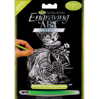 Tabby Cat & Kitten – Engrave Art