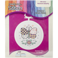Patchwork Butterfly Mini Counted Cross Stitch Kit