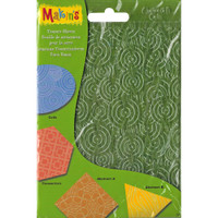 "Makin's Clay Texture Sheets 7""X5.5"" 4/Pkg – Set H (Coils, Connectors & Abstracts)"