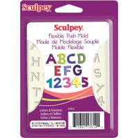 Sculpey Flexible Push Mold – Letters & Numbers