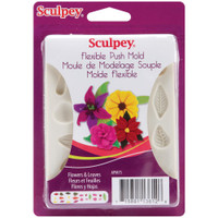Sculpey Flexible Push Mold – Flowers & Leaves