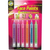 Brilliant – Face Paint Push-Up Crayons 6/Pkg