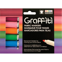 Graffiti Fabric Markers 6/Pkg – Floral
