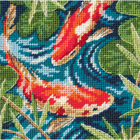 Dimensions - Koi Pond Mini Needlepoint