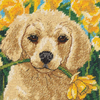 Dimensions - Puppy Mischief Mini Needlepoint