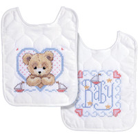 Tobin – Bedtime Prayer Boy Bib Pair