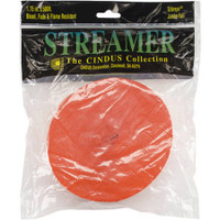 "Crepe Streamers 1.75""X81' – Bright Orange"