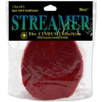 "Crepe Streamers 1.75""X81' – Flame Red"
