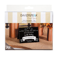 David Tutera™ Instagram Tent Cards - Black/White - 5.5 x 4.25 in - 24 pieces