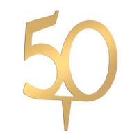 Victoria Lynn™ Cake Topper - 50th Anniversary - Gold - 4 inches