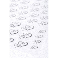 Victoria Lynn™ Transparent Stickers - Double Hearts - Silver - 53 pieces