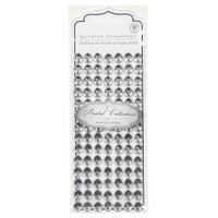 David Tutera Rhinestones - Adhesive - Oval - Silver/Clear - 10mm