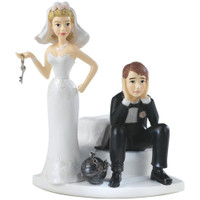 "Cake Topper 4"" - Ball & Chain"