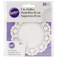 "Greaseproof Doilies - 4"" Round White 30/Pkg"