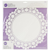 "Greaseproof Doilies - 12"" Round White 6/Pkg"