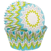Standard Baking Cups – Lime Chevron 75/Pkg