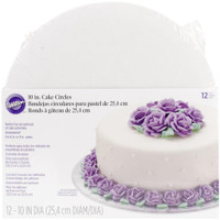 "Cake Boards – 10"" Round White 12/Pkg"