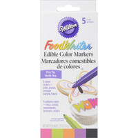 Food Writer Fine Tip Edible Color Markers .35oz 5/Pkg – Neon