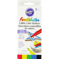 Food Writer Fine Tip Edible Color Markers .35oz 5/Pkg – Primary