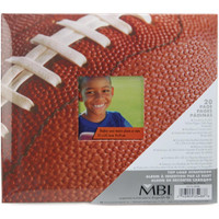 "Sport & Hobby Post Bound Album W/Window 8""X8"" – Football"