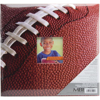 "Sport & Hobby Post Bound Album W/Window 12""X12"" – Football"