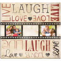 "Live Laugh Love Film Strip Post Bound Album 12""X12"""