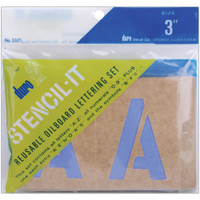 Stencil-It Reusable Lettering Set – 3""
