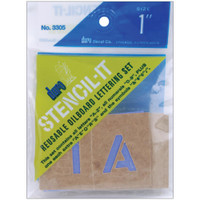 Stencil-It Reusable Lettering Set – 1""