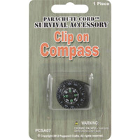 Parachute Cord Survival Accessory Clip-On Compass