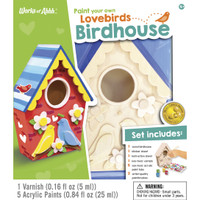 BIRDHOUSE LOVEBIRDS WOOD PAINT KIT