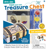TREASURE CHEST BANK WOOD PAINT KIT