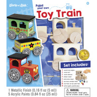 TOY TRAIN WOOD PAINT KIT