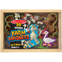 Wooden Magnet Set - Farm 20/Pkg
