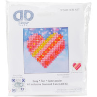 "Patchwork Heart Diamond Dotz – 4.75""X4.75"""
