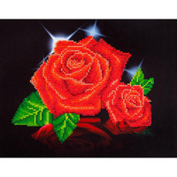 "Red Rose Sparkle Diamond Dotz – 17""X13.75"""