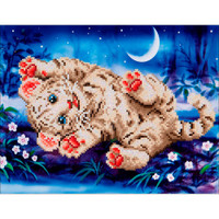 "Baby Tiger Roly Poly Diamond Dotz – 17""X13.75"""