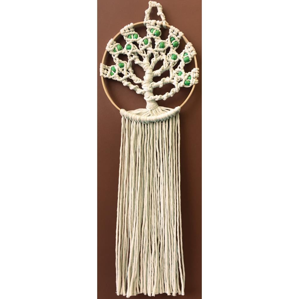 "Design Works/Zenbroidery Macrame Wall Hanging Kit 8""X24 ..."