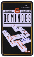 Double 6 Dominoes in Tin Action Game