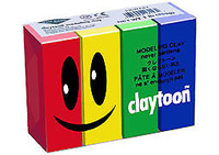 Claytoon Modeling Clay 1lb 4 Pack