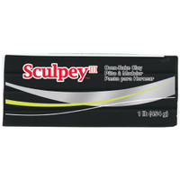 Sculpey III Polymer Clay 1lb – Black