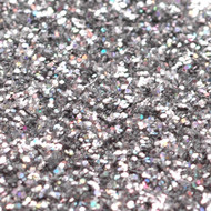 1/2 Ounce Glitter Poof Bottle - Silver Bells